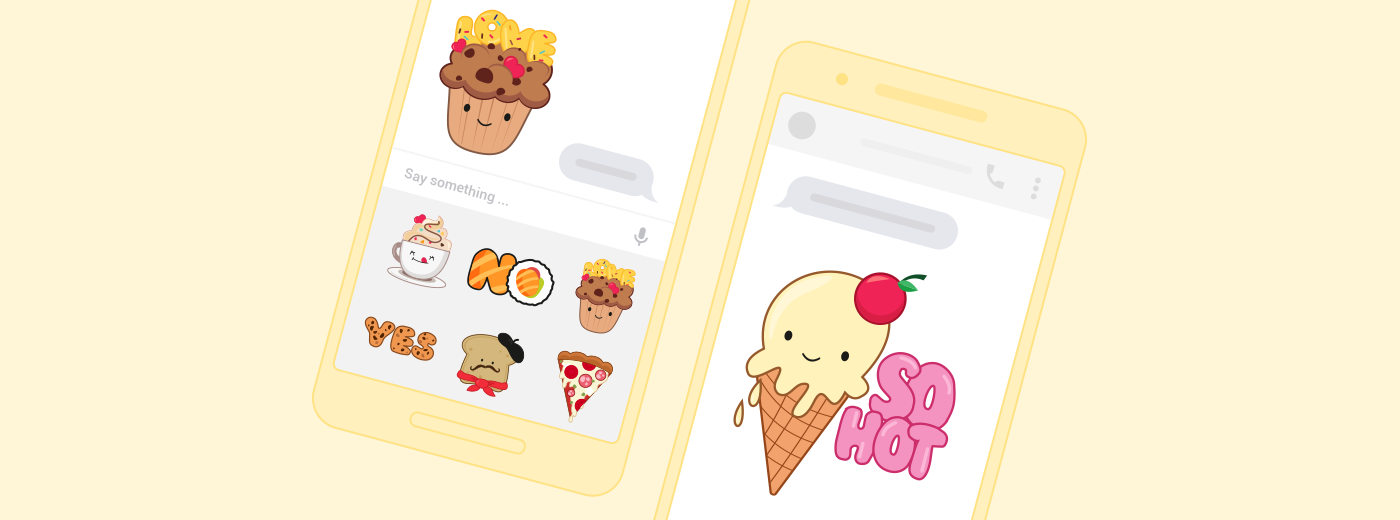 Messenger sticker food
