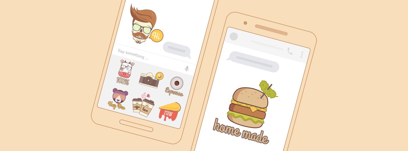 Messenger sticker hipster