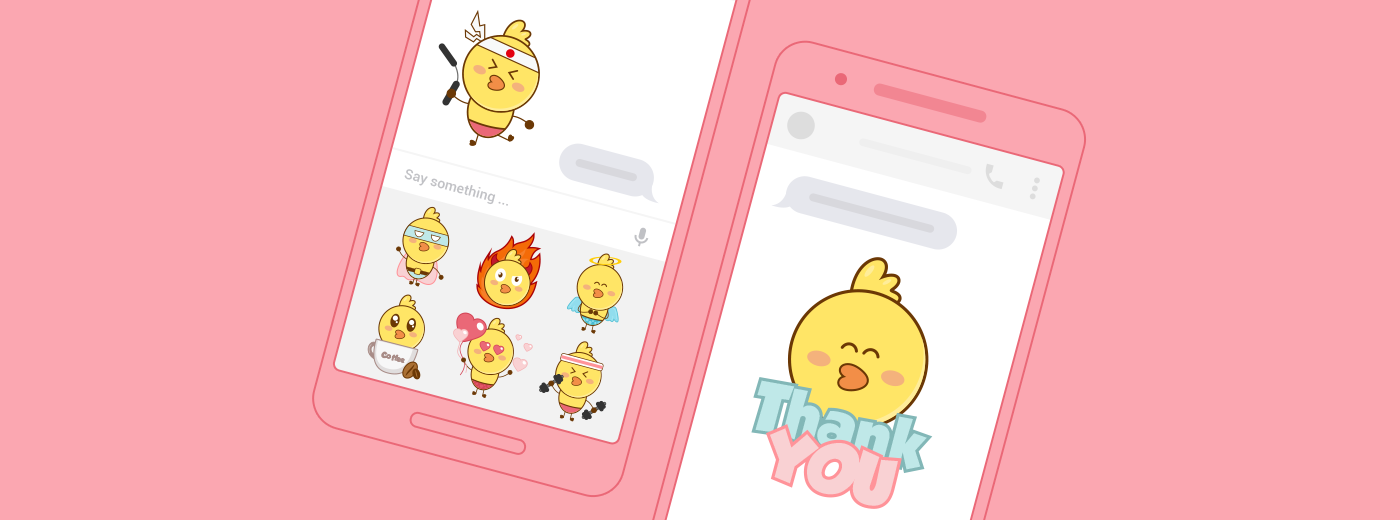 Messenger sticker chick