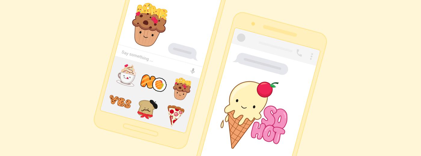 Messenger sticker food